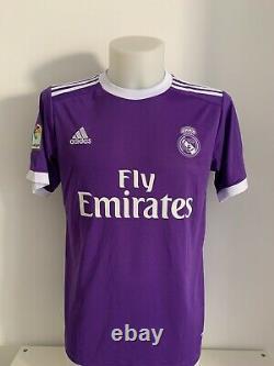 Shirt signed autographs 4 Sergio Ramos Real Madrid CF away soccer jersey COA