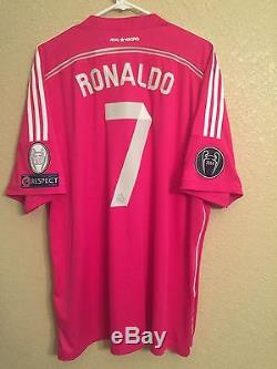 Spain Real Madrid Ronaldo Champions League Winners Shirt Adidas 2X Adidas Jersey
