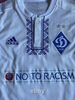 T-shirt Match Worn Dynamo Kiev shirt Jersey Dynamo Kiev Football Shirt Ukraine