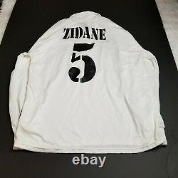 VINTAGE Adidas Mens Real Madrid Zidane Soccer Jersey XL Extra Large White Adult