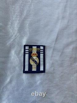 Vintage 90s Adidas Real Madrid #15 Morientes Official Authentic Soccer Jersey L