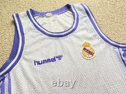 Vintage ACB Real Madrid 89-90 Hummel Basketball jersey Shirt XL Doncic