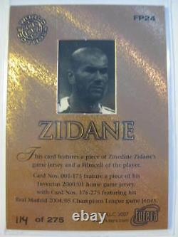 ZENEDINE ZIDANE FUTERA JERSEY CARD REAL MADRID SOCCER RONALDO Immaculate NOIR