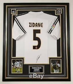 ZINEDINE ZIDANE of Real Madrid Signed Shirt Autographed Jersey AFTAL DEALER COA