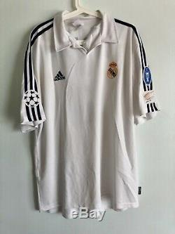 Zidane2001/02 Real Madrid Champions League Match Un Worn Shirt Jersey Signed