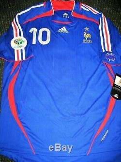 Zidane France 2006 WC PLAYER ISSUE Jersey Real Madrid Maillot Shirt Trikot XL