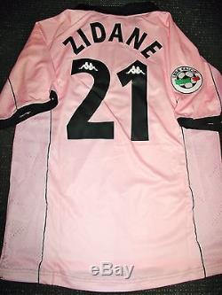 babc740f5cd Zidane Juventus 1997 1998 Centenary Pink Jersey Shirt Maglia Real Madrid L