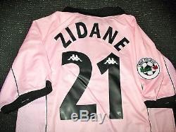Zidane Juventus 1997 1998 Centenary Pink Jersey Shirt Maglia Real Madrid L