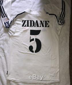 Zidane Real Madrid Centenary UEFA Jersey Shirt 2001 2002 France Maillot M