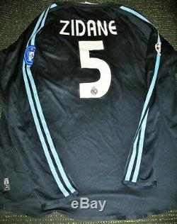 Zidane Real Madrid Jersey 2003 2004 UEFA CL Shirt Camiseta France Maillot LS L