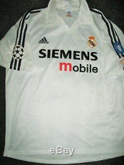 Zidane Real Madrid UEFA CENTENARY 2002 2003 Jersey Shirt France Camiseta XL