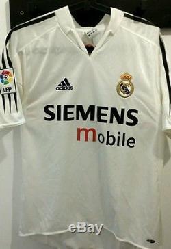 60d599599 Zinedine Zidane Real Madrid Home Shirt Jersey Camiseta Maillot Ronaldo  Beckham