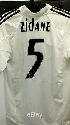 Zinedine Zidane Real Madrid Home Shirt Jersey Camiseta Maillot Ronaldo Beckham