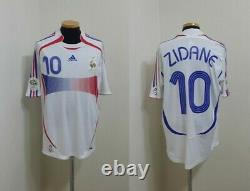 (l) France Shirt Jersey Maillot Zidane Real Madrid Bordeaux Italy Spain