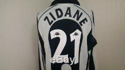 (l) Juventus Shirt Jersey Italy Football Zidane France Real Madrid Maillot