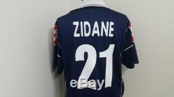 (m) Juventus Shirt Jersey Italy Football Zidane France Real Madrid Bordeaux