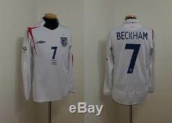 (s) England Shirt Jersey Long Beckham Manchester Milan Real Madrid V. Ecuador