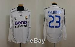 (s) Real Madrid Shirt Jersey Beckham Manchester Milan Psg Galaxy Camiseta Ls